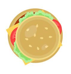 hamburger icon in flat design vector image