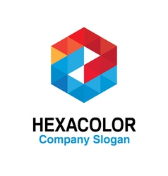 Hexa color design vector