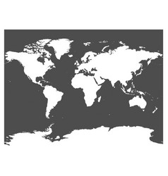 Map of world black silhouette white high vector