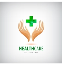 Medical pharmacy cross logo design template vector image vector image