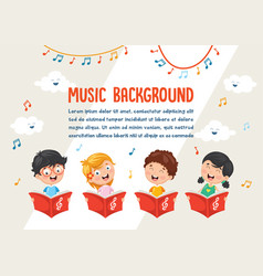 Of kids choir vector