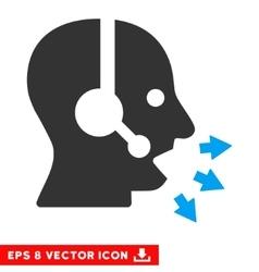 Operator speak eps icon vector