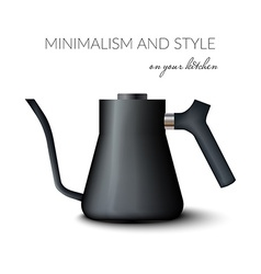 Realistic teapot or kettle for tea and coffee in vector