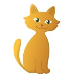 red kitten vector image