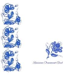 Russian ornament gzel vector image