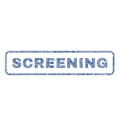 screening textile stamp vector image vector image