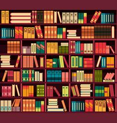 seamless pattern bookshelves vector image
