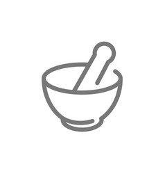 Simple chemical vessel mortar pestle pistil vector