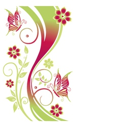 Tendril floral element vector image vector image