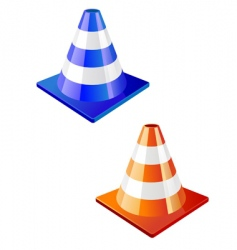 traffic cone icon vector image