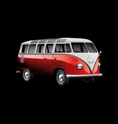 Vintage van vector