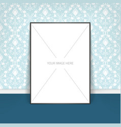 Poster template of a blank paper vector