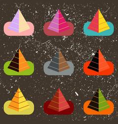 Egypt pyramids set vector