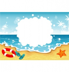 Summer beach tropic vector