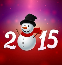 2015 background with snowman vector image