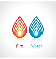 Flame and water vector