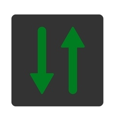 Arrows exchange vertical flat green and gray vector