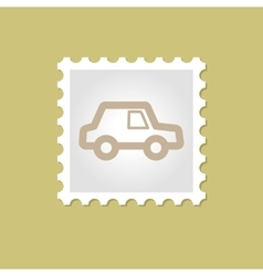 Car stamp vector