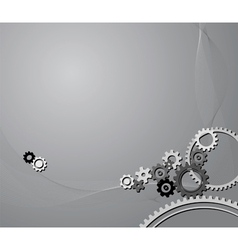 Cogwheels background vector