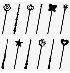 Magic sticks vector