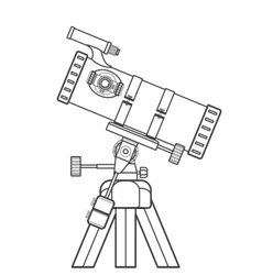 Outline reflecting telescope vector