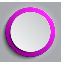 Pink circle empty banner on white background vector