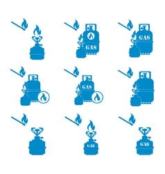 Set of tourist coocking equipment icons 2 vector
