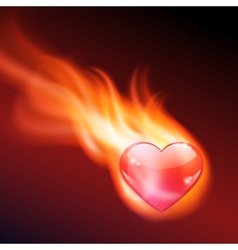 Abstract background with burning heart vector image vector image