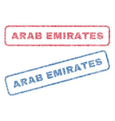 Arab emirates textile stamps vector