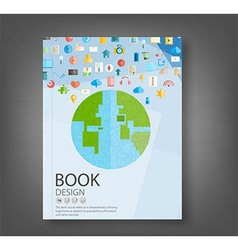 Book design technology vector image vector image