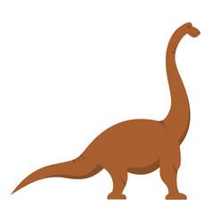 brown brachiosaurus dinosaur icon isolated vector image vector image