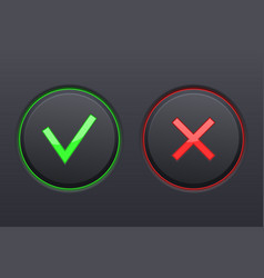 cancel and submit black buttons vector image vector image