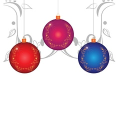 Christmas balls on white background vector image vector image