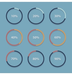 Circle chart graph infographic percentage vector image