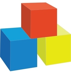 cubes color 7 vector image vector image