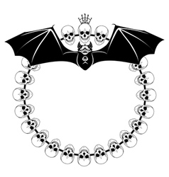 deaths heads and bat vector image vector image