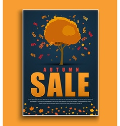 Design a dark blue poster for sale with autumnal vector