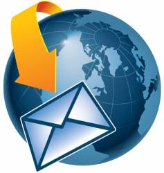 Email globe vector