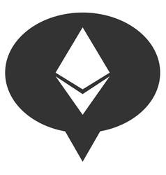 Ethereum banner balloon flat icon vector