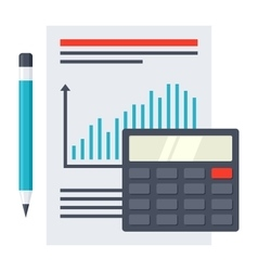 Financial Report Concept vector image vector image