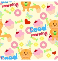 Good morning funny pattern vector image vector image