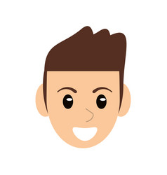 Head face man male character vector