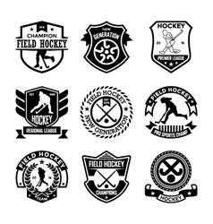 Hockey badges vector