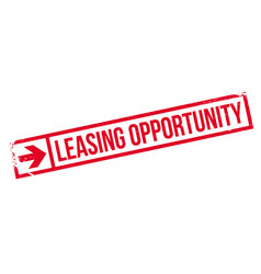 Leasing opportunity rubber stamp vector