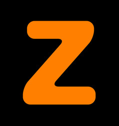 letter z sign design template element orange icon vector image