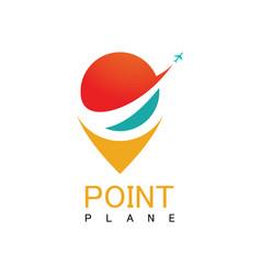 point plane logo vector image