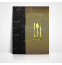 restaurant menu design with spoon fork and knife vector image vector image