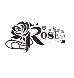 rose lettering vector image