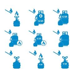 Set of tourist coocking equipment icons 2 vector