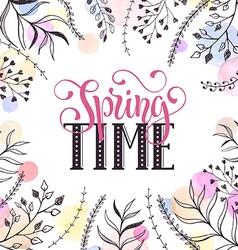 Spring time card vector